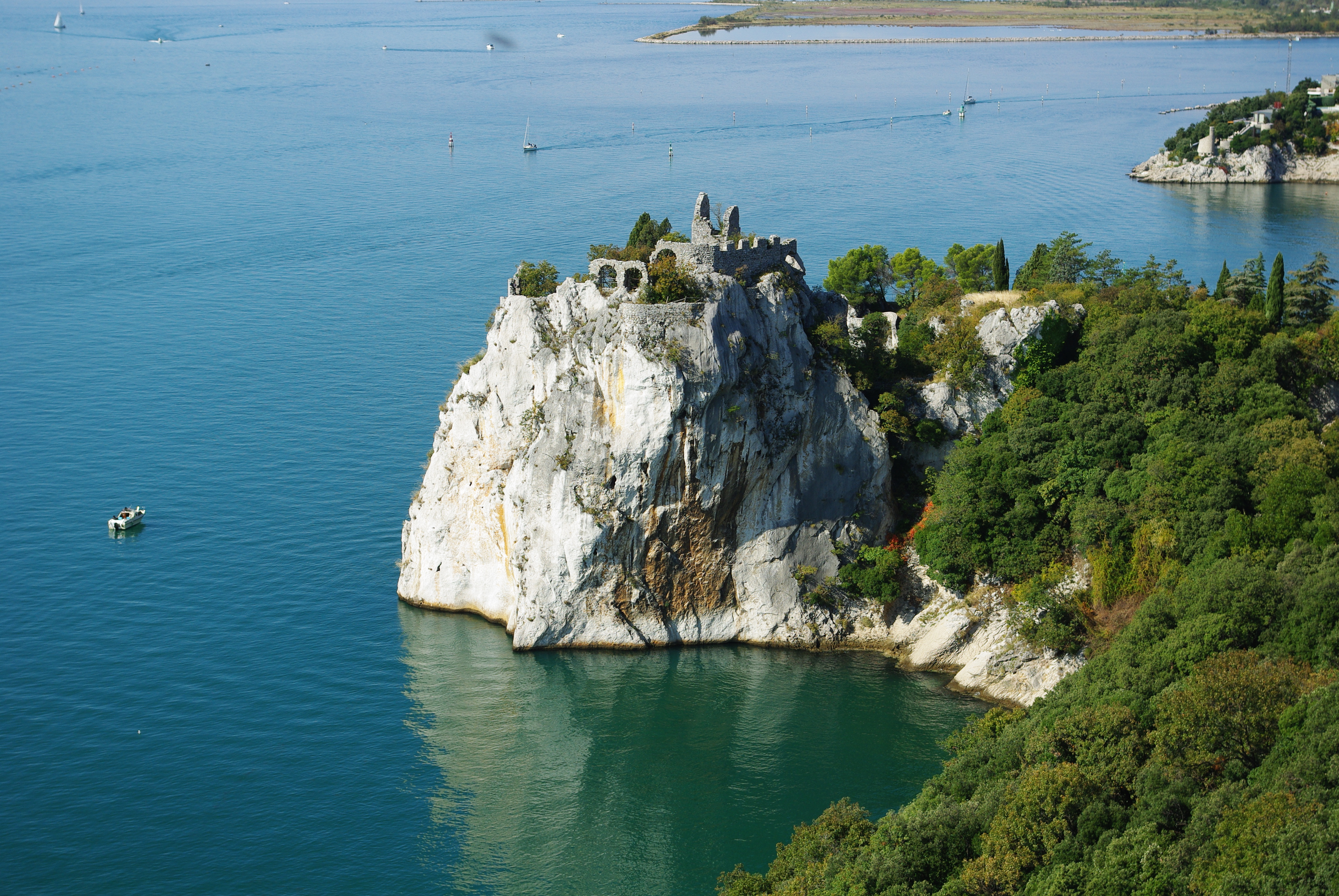 The peninsula near castle Duino, Trieste, Italy