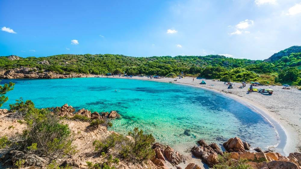 Spiaggia del Principe, traumhafter Strand der Smaragdküste, Insel Ostsardinien, Italien