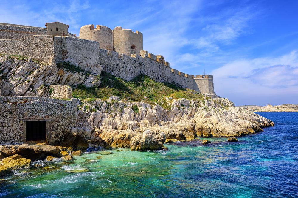 Blick auf das Chateau d'If Castle auf einer Insel in Marseille, Frankreich
