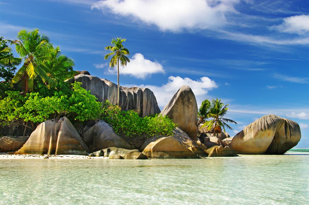 Granitfelsenstrände auf den Seychellen - La diga