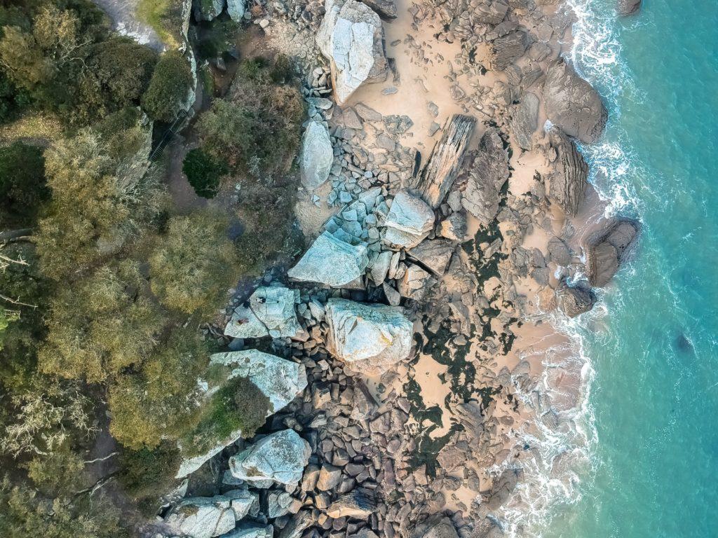 Blick auf die Bois de la Chaise aus der Vogelpersoektive, Noirmoutier-en-l'Île, France
