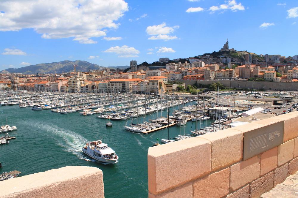 La Rochelle, die französische Stadt und der Hafen am Golf von Biscaya, ein Teil des Atlantischen Ozeans