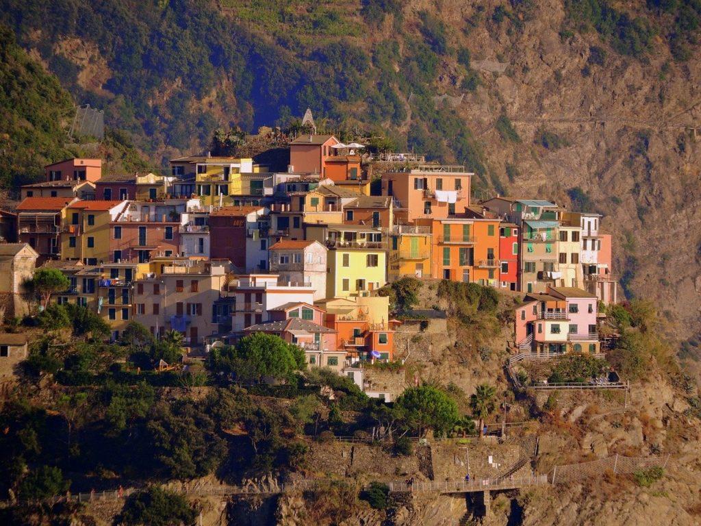 Blick auf Corniglia der Cinque Terre, Italien