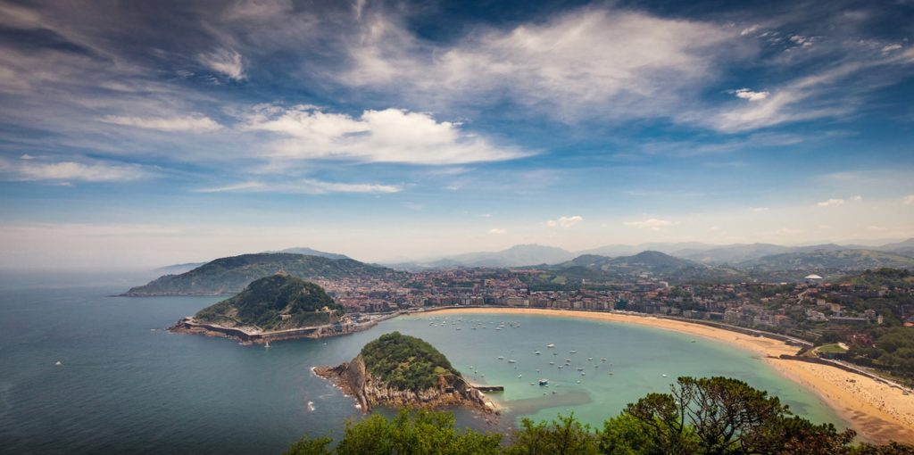 Blick auf die Bucht von San Sebastián