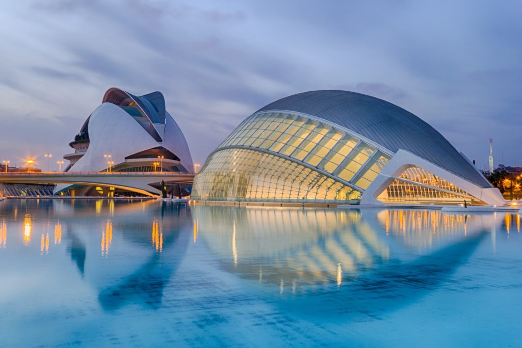 Ciutat de les Arts i les Ciències in Valencia, Spanien